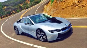 BMW i8 på Mulholland Drive